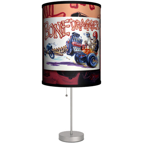 Lamp-In-A-Box Weird Wheels Bone Dragger Table Lamp Skeleton Coffin Psychobilly