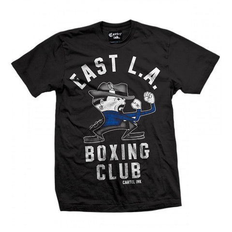 Men's Cartel Ink East L.A. Boxing Club T-Shirt Fisticuffs Los Angeles Cali