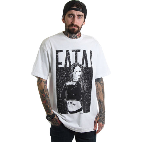 Men's Fatal Gasp T-Shirt White Tattooed Girl Streetwear