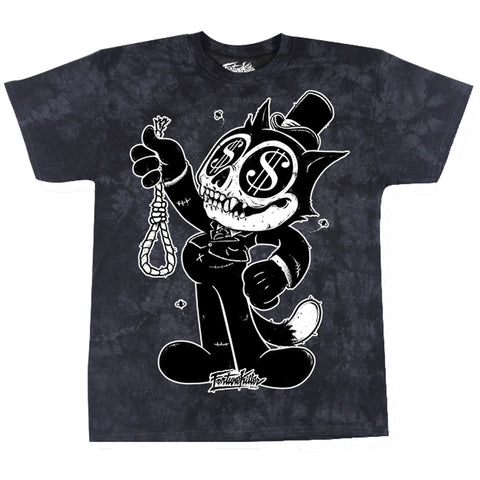Men's Fortune Killer Fat Cat T-Shirt Black Money