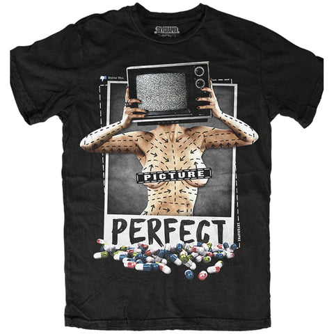 Men's Skygraphx Picture Perfect T-Shirt Black Vanity Beauty Standards