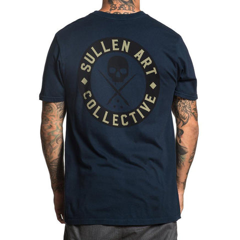 Men's Sullen BOH Obsidian T-Shirt Skull Logo Tattoo Art Lifestyle