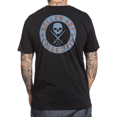 Men's Sullen BOH Slanted T-Shirt Black Skull Tattoo Art Lifestyle