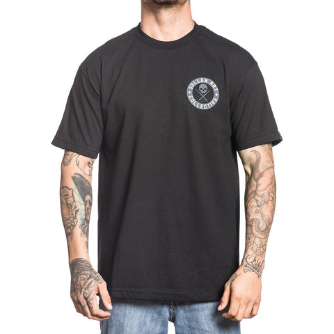 Men's Sullen Badge of Honor Bricks Premium T-Shirt Black/Grey Tattoo Skull