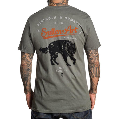 Men's Sullen Blaq Wolf T-Shirt Buckwheat Tattoo Art Lifestyle