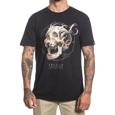 Mens Sullen Bone Filigree Premium T-Shirt Black Skull Tattoo Art Lifestyle Brand