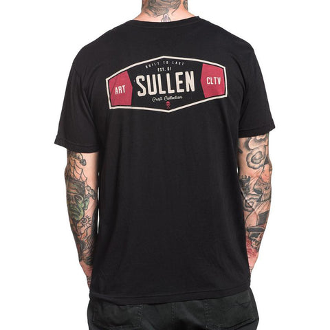 Men's Sullen Brillo T-Shirt Black Tattoo Art Lifestyle Brand