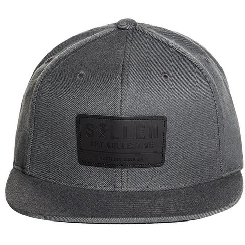 Sullen Builder Snapback Hat Grey Tattoo Art Lifestyle Brand