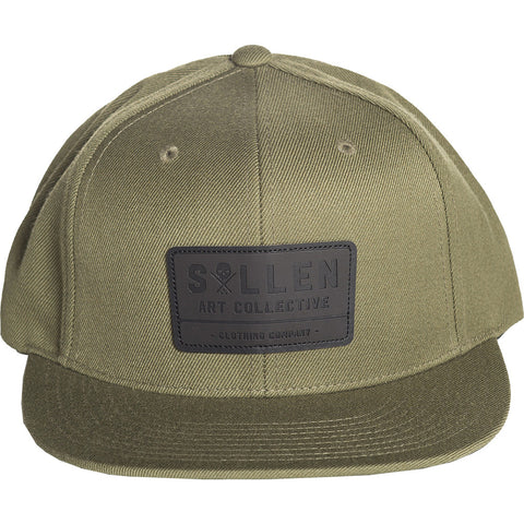 Men's Sullen Builder Snapback Hat Military Green Tattoo Art Lifestyle Brand