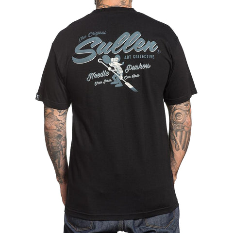 Men's Sullen Cheezy-E T-Shirt Black Skull Tattoo Art Artist Lifestyle