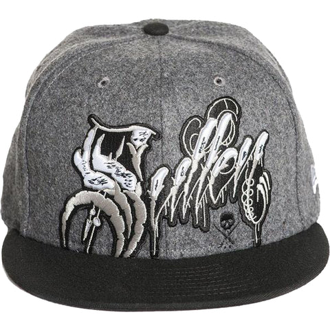 Sullen Coilworks Snapback Hat Grey/Black Tattoo Art Lifestyle