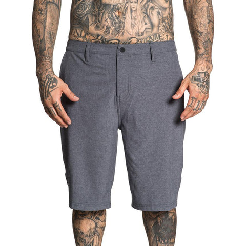 Men's Sullen Complex Hybrid Shorts Dark Heather Charcoal Tattoo Lifestyle Brand