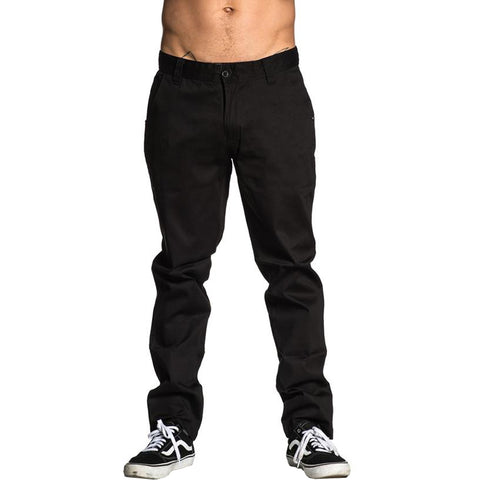 Men's Sullen Convention Chino Pants Black Tattoo Art Lifestyle