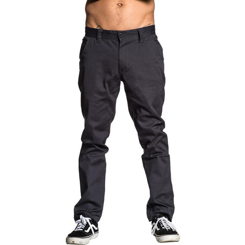 Men's Sullen Convention Chino Pants Grey Tattoo Art Lifestyle