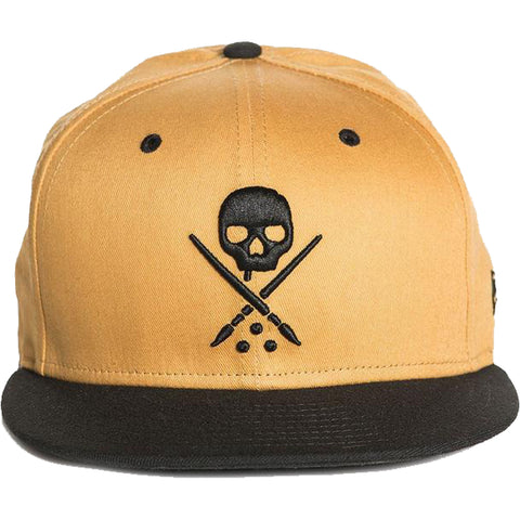 Sullen Eternal Honey Snapback Hat Mustard/Black Skull Tattoo Art Lifestyle