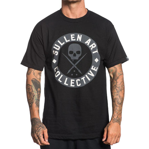 Men's Sullen Everyday Badge T-Shirt Black Skull Tattoo Art Lifestyle