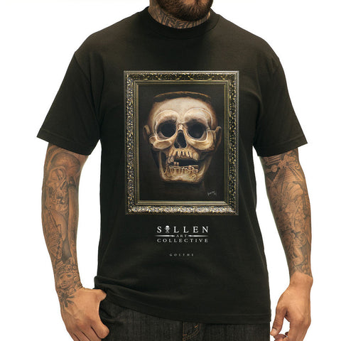 Men's Sullen Goethe T-Shirt Black Skull Frame Tattoo Art Lifestyle Brand