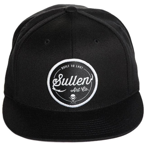 Sullen Graften Snapback Hat Black/White Sullen Logo Tattoo Art Lifestyle Brand