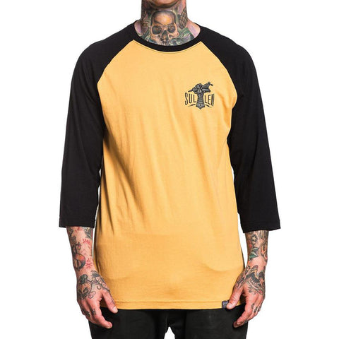 Men's Sullen Iron Hand Raglan Mustard/Black