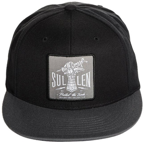 Sullen Iron Hand Snapback Hat Black Tattoo Machine Tattoo Art Lifestyle Brand