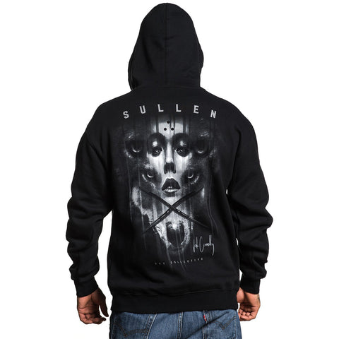 Men's Sullen Jak Connolly Zip Hoodie Black Woman Wolf Tattoo Art Lifestyle Brand