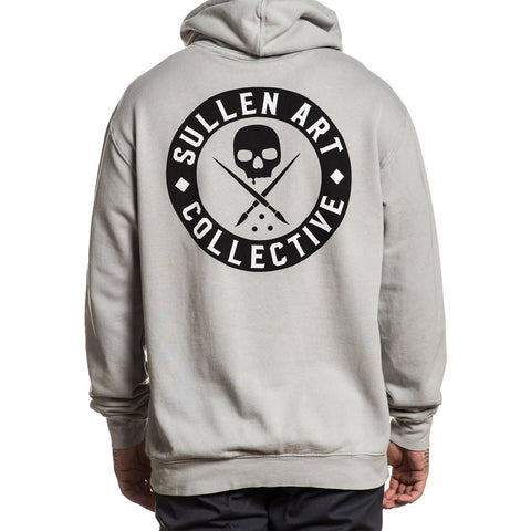 Men's Sullen Limestone Long Sleeve Hoodie Skull Logo Tattoo Art Lifestyle
