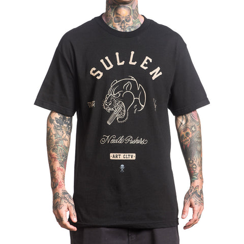 Men's Sullen Needle Pusher T-Shirt Black Panther Tattoo Art Artist Lifestyle