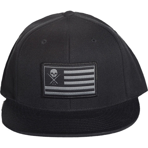 Sullen Pride Snapback Hat Black Skull Logo Flag Tattoo Lifestyle Brand Military