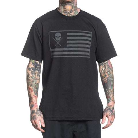 Men's Sullen Pride T-Shirt Black Flag Sullen Skull Tattoo Lifestyle Military