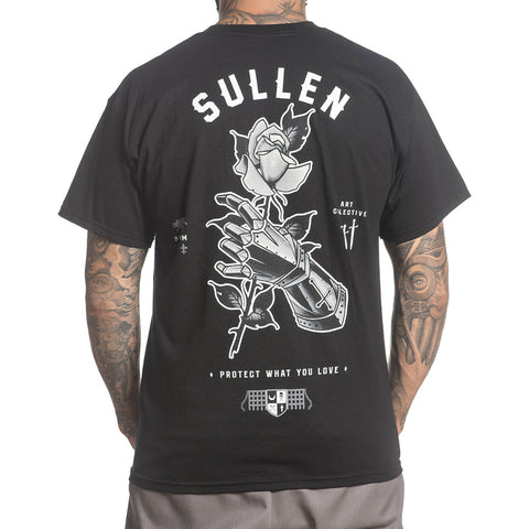 Men's Sullen Primm T-Shirt Black Knights Armor Rose Tattoo Lifestyle Brand