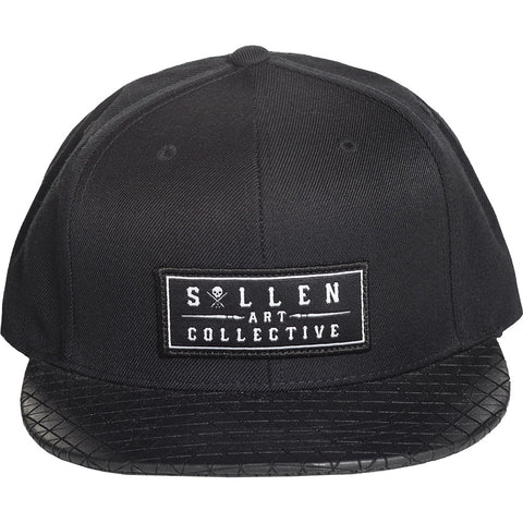 Men's Sullen Pyramids Snapback Hat Black Tattoo Art Lifestyle Brand