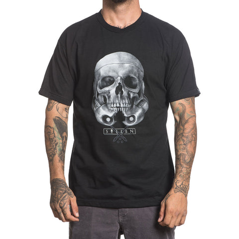 Men's Sullen Rogue Skull T-Shirt Black Tattoo Art Lifestyle Trooper