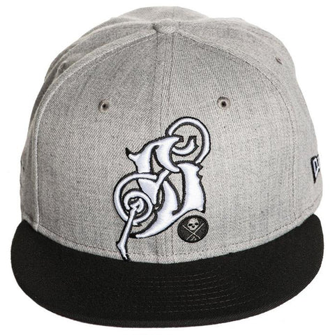 Sullen Rudy Snapback Hat Grey/Black Tattoo Art Lifestyle Brand