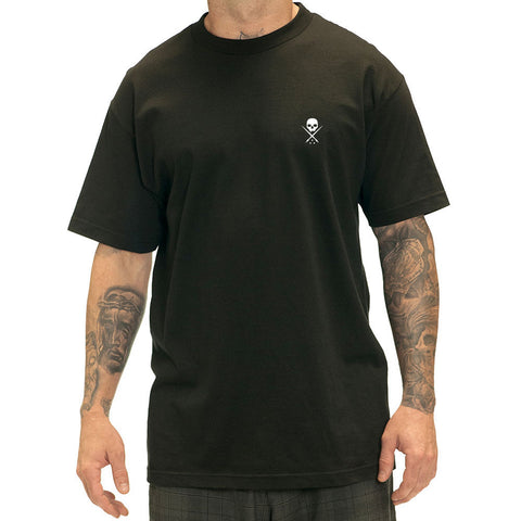 Men's Sullen Standard Issue T-Shirt Black/White Sullen Logo Tattoo Lifestyle Ink