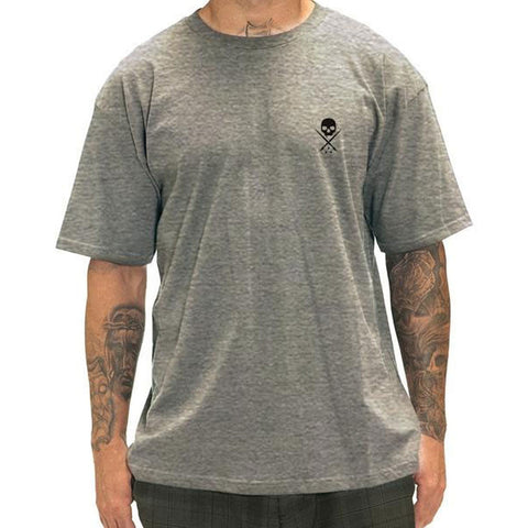 Men's Sullen Standard Issue T-Shirt Grey/Black Tattoo Lifestyle Brand Skull Logo