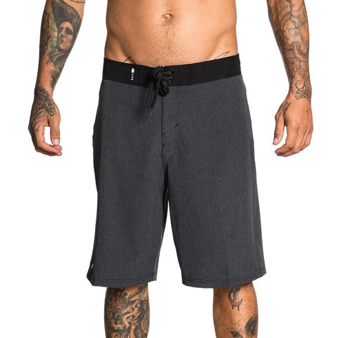 Men's Sullen Tactics Hybrid Board Shorts Grey Tattoo Art Lifestyle Brand