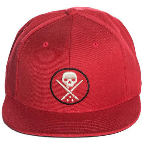 Sullen Yards Snapback Hat Burgundy Skull Logo Tattoo Lifestyle Brand