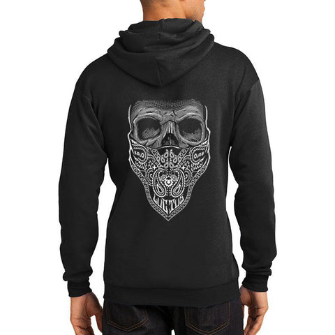 Men's Tat Daddy Mourning Glory Hoodie Skull Bandana