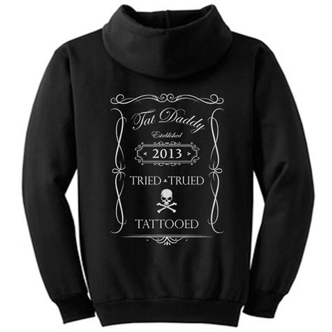 Men's Tat Daddy Tried, Trued, Tattooed Hoodie Black Ink Tattoo Inked Life
