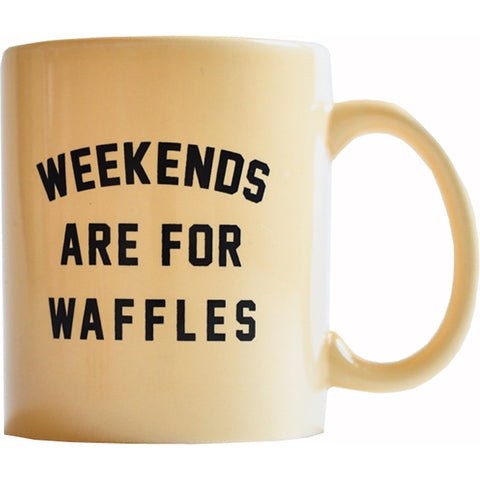 Pyknic Weekends are for Waffles Coffee Mug Food Funny