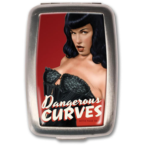 Retro-a-go-go! Bettie Page Dangerous Curves Pill Box Vintage Pin Up