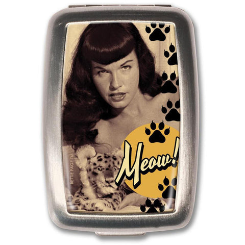 Retro-a-go-go! Bettie Page Meow! Pill Box Vintage Pin Up