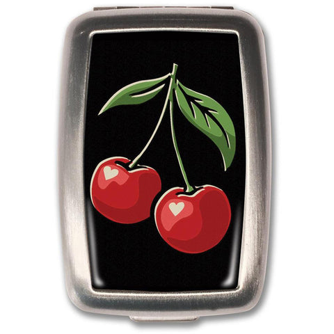 Retro-a-go-go! Black Cherries Pill Box Rockabilly