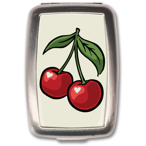 Retro-a-go-go! Cherry White Pill Box Rockabilly