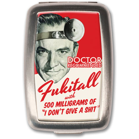 Retro-a-go-go! Fukitall Pill Box Red Retro Humor Vintage