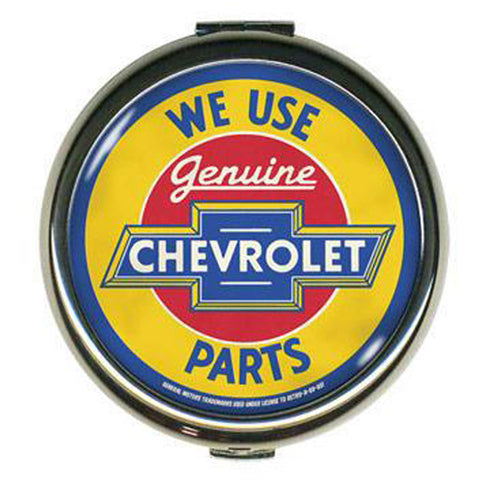 Retro-a-go-go! GM™ Chevrolet Parts Compact Mirror Vintage Classic Car Logo