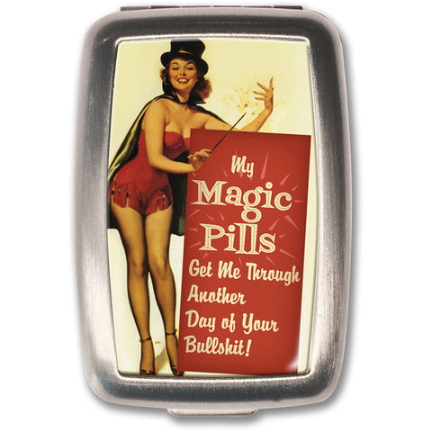 Retro-a-go-go! Magic Pills Pill Box Drugs Vintage Inspired Rockabilly 50's