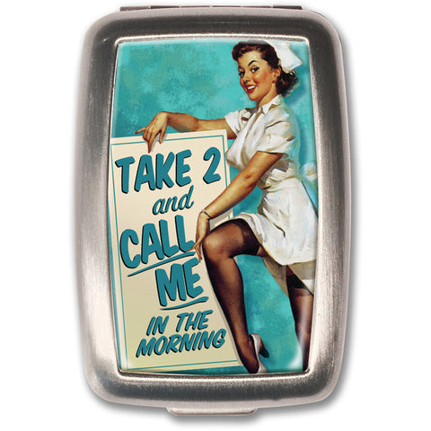 Retro-a-go-go! Take 2 Pill Box Nurse Vintage 50s Rockabilly Tattoo