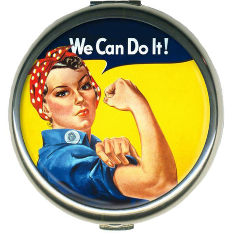 Retro-a-go-go! We Can Do It! Compact Mirror Rosie the Riveter Retro Vintage