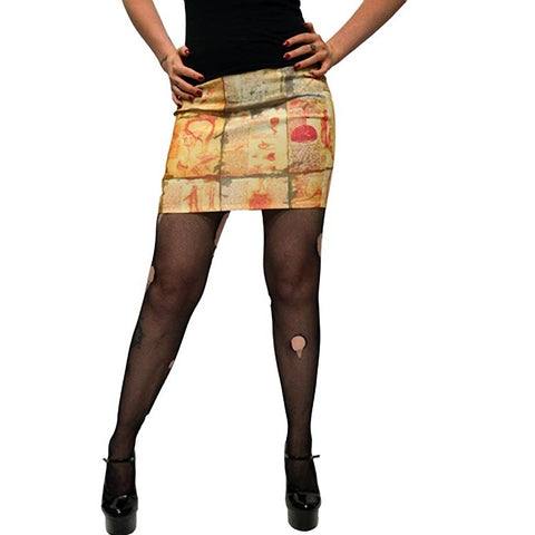 Women's Kreepsville 666 Anatomy Notes Mini Skirt Macabre Horror Halloween